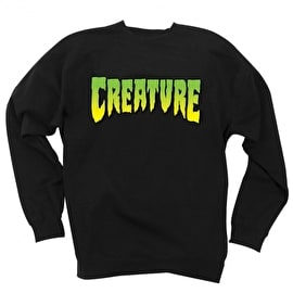 Creature Logo Crew Neck - Black