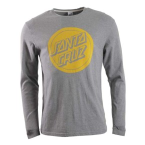 Santa Cruz Reverse Dot LS T-Shirt - Dark Heather