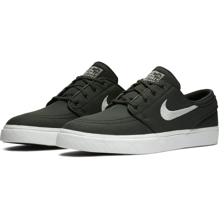 Nike SB Air Zoom Stefan Janoski Canvas Skate Shoes - Sequoia/Light Bone