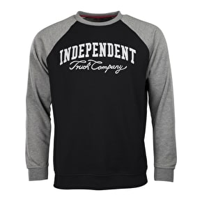 Independent Letterman Crewneck - Black/Dark Heather