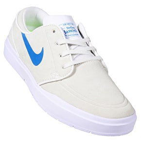 Nike SB Stefan Janoski Hyperfeel Skate Shoes - Summit White/Industrial Blue