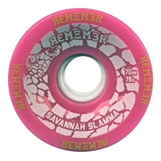 Remember Savannah 70mm Longboard Wheels - Pink