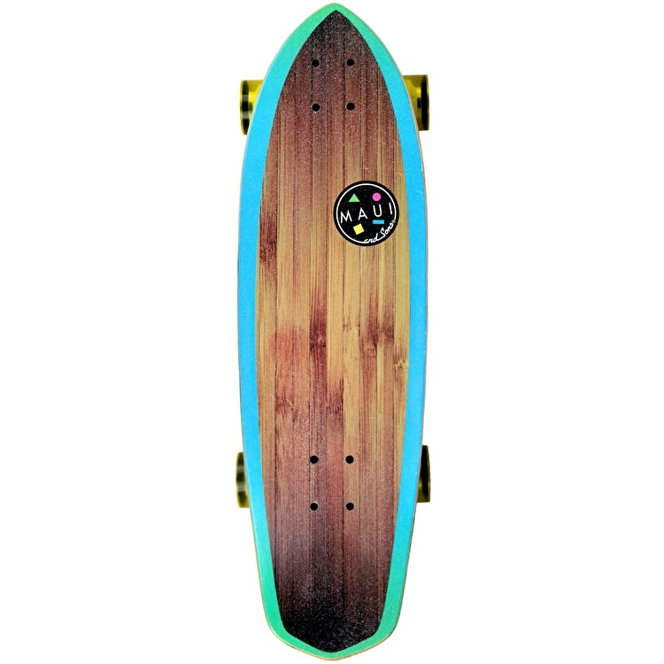 Maui And Sons Deep Blue Complete Cruiser Skateboard 30""