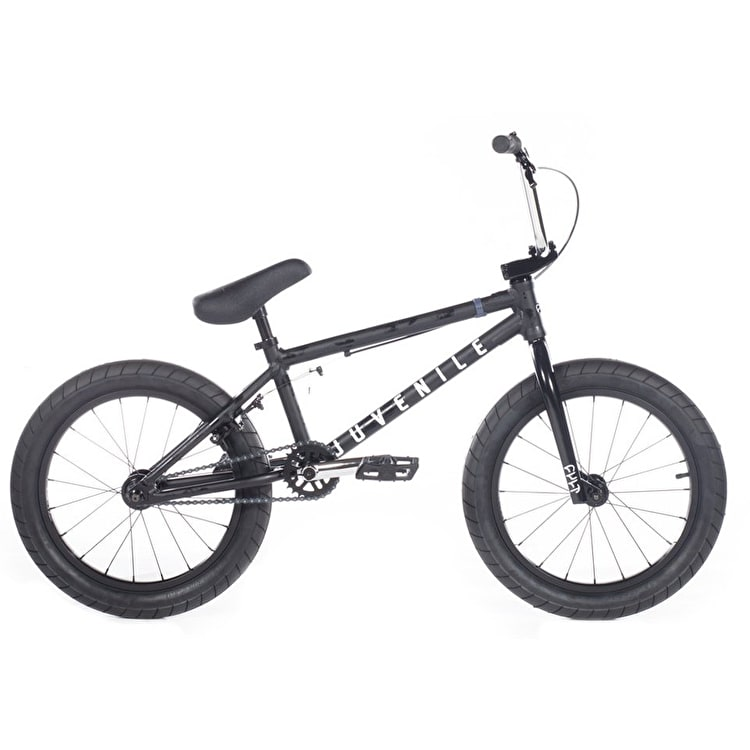 "Cult 2019 Juvenile A Complete 18"" BMX - Black Patina/Chrome"