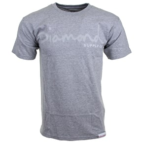 Diamond Tonal OG Script T-Shirt - Athletic Heather