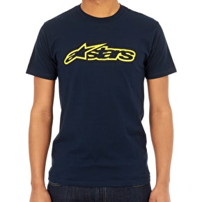 Alpinestars Blaze T-Shirt - Navy/Yellow
