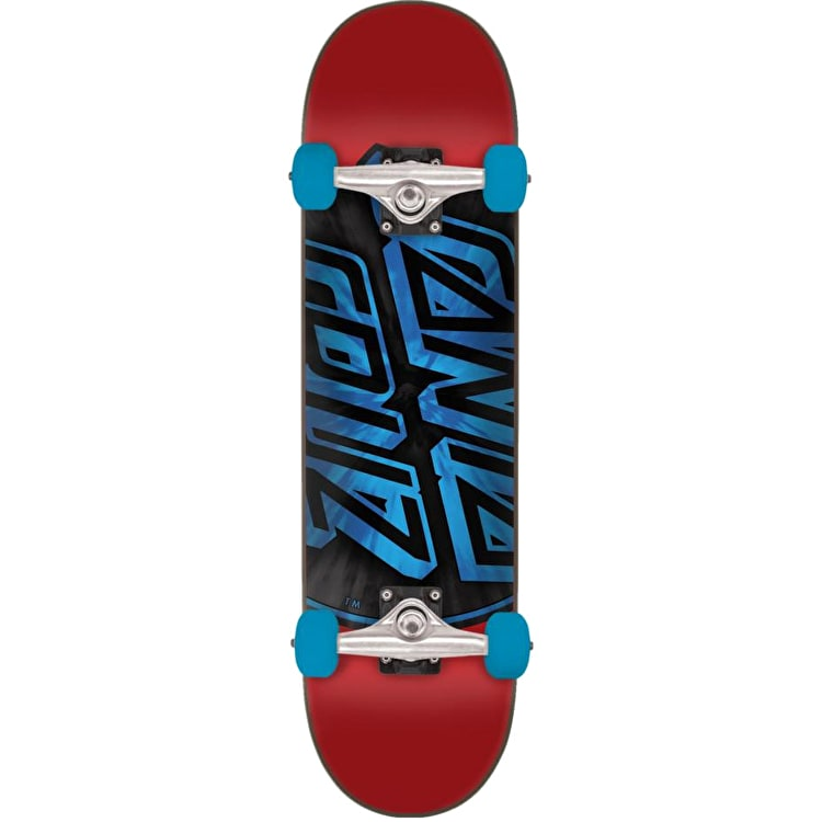 Santa Cruz Warp Dot Complete Skateboard - Red/Blue 7.8""
