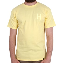 Huf Over-Dye Classic H T Shirt - Sunset Yellow