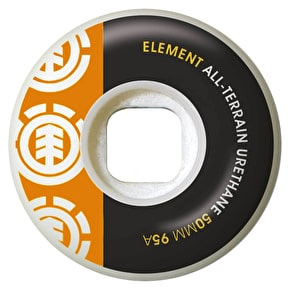 Element Section Skateboard Wheels - Orange/Black 50mm