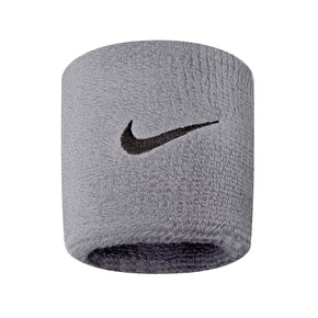Nike Swoosh Wristbands - Matt Silver/Black