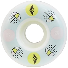 Fracture Brolly 100a Skateboard Wheels - White 52mm