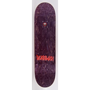 Deathwish Gang Name Ellington Skateboard Deck - Black/Red 8.125