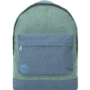 Mi-Pac Herringbone Mix Backpack - Green/Navy
