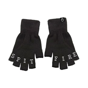 Spitfire Lifer Fingerless Gloves - Black