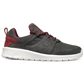 DC Heathrow Prestige Skate Shoes - Grey/Red