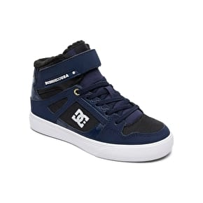 DC Spartan High Winter EV Kids Skate Shoes - Navy/Black