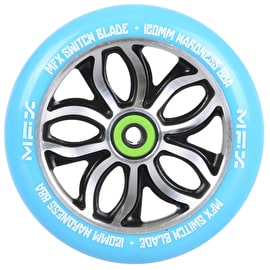MGP MFX Switch Blade Scooter Wheel - R Willy Signature 120mm Blue