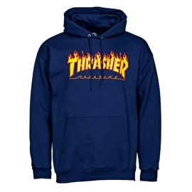 Thrasher Flame Logo Hoodie - Navy