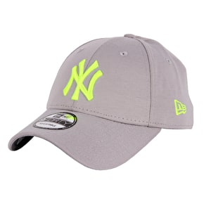 New Era 9FORTY NY Jersey Cap - Grey/Yellow