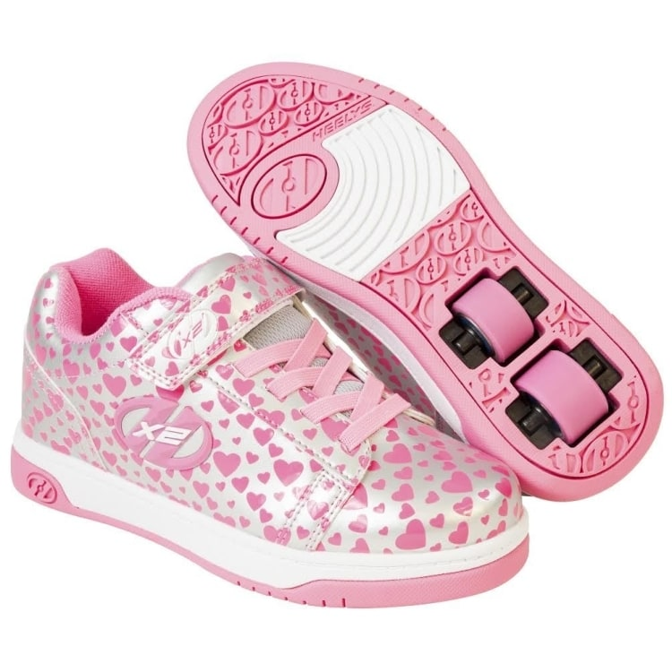 Heelys X2 Dual Up - Silver Hearts