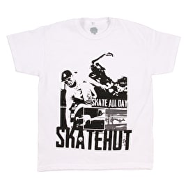 SkateHut Skate All Day Kids T Shirt - White