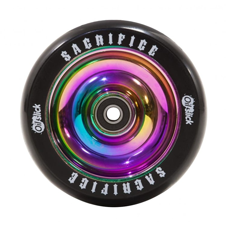 Sacrifice Oil Slick 110mm Scooter Wheel w/Bearings - Neochrome