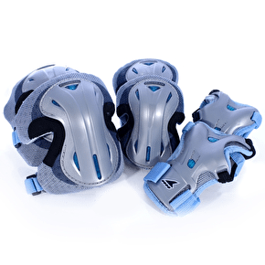 Rollerblade Lux Activa Padset - Silver/Blue