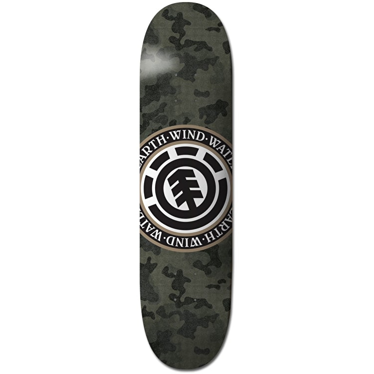 Element Bark Camo Seal Skateboard Deck - 8""