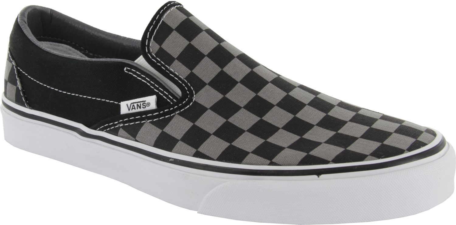 d692d0a7a7 Vans Classic Slip On Shoes - Black Pewter Checkerboard