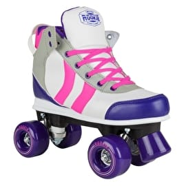 Rookie Deluxe Quad Roller Skates - Pink/Grey/Purple