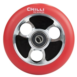 Chilli Pro Parabol 100mm Scooter Wheel w/Bearings - Red/Silver