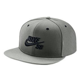 Nike SB Icon Snapback Cap - Grey/Black/Grey