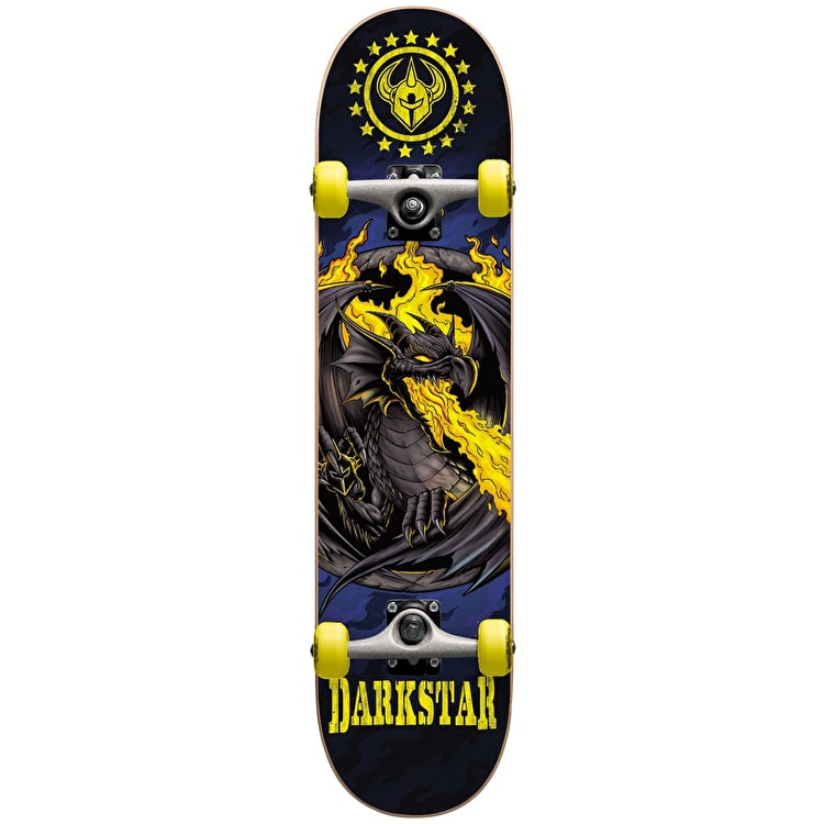 Darkstar Dragon Micro Complete Skateboard - Yellow 6.75""