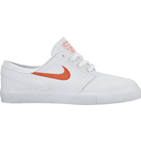 Nike SB Zoom Stefan Janoski Canvas Capsule Womens Shoes - White/Max Orange