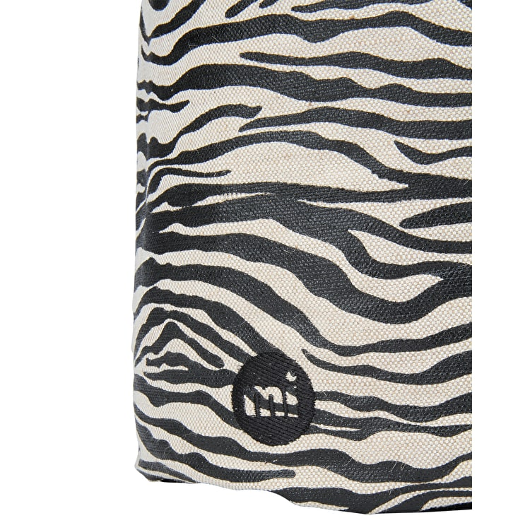 Mi-Pac Canvas Zebra Drawstring Swing Bag - Black/White