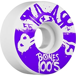 Bones OG 100s #10 V4 Skateboard Wheels - White 55mm