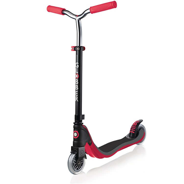 Globber My Too Flow 125 Complete Scooter - Black/New Red