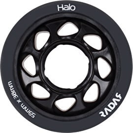 Radar Halo 59mm Roller Skate Wheels 4 Pack - Charcoal/Black 101a