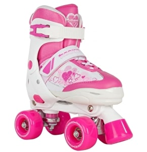 Rookie Kids' Adjustable Quad Skates - Pulse Pink/White