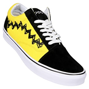 Vans x Peanuts Old Skool Skate Shoes - Charlie Brown/Black