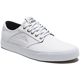 Lakai Porter Skate Shoes - White/White Canvas