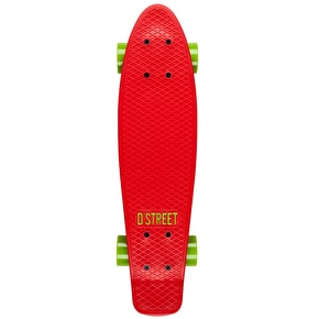 D Street Cruiser - Polyprop 3rd Gen Red/Green 23