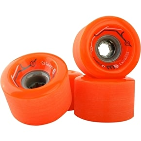 Metro Express 77mm 78a Longboard Wheels - Orange (Pack of 4)