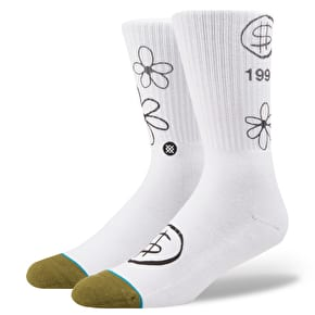 Stance Skate Days Socks - White