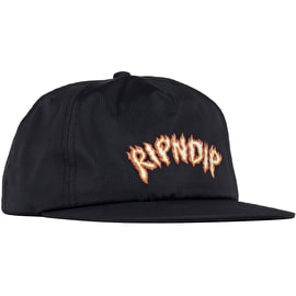 RIPNDIP Inferno Cotton Snapback Cap - Black