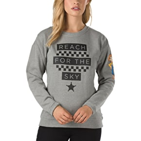 Vans x Toy Story Womens Reach For The Sky Crewneck - Grey Heather