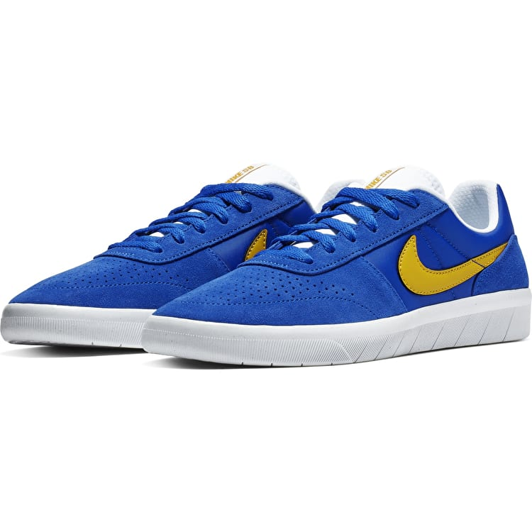 Nike SB Team Classic Skate Shoes - Game Royal/Yellow Ochre-White