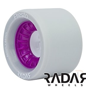 RADAR Presto Wheels 97A Slim- Grey/Purple 62mm