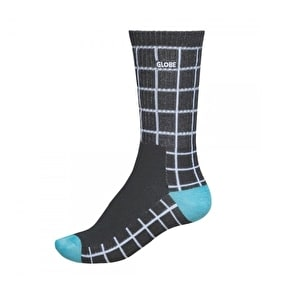 Globe Motion Crew Socks - Black Grid