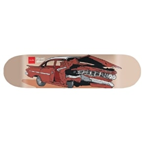 Chocolate Skateboard Deck - Car Crash Alvarez 8.25